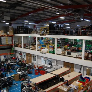 Mezzanine Floor, Partitioning, Goods Lift & Pallet Racking, Sony Europe
