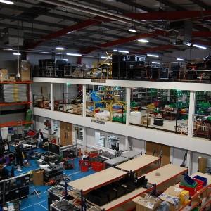 Mezzanine Floor, Partitioning, Goods Lift & Pallet Racking, Sony Europe